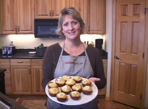 white chocolate raspberry muffins Video