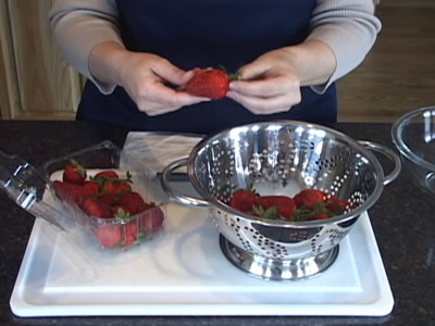 Cleaning Strawberries for Strawberry Recipes Video